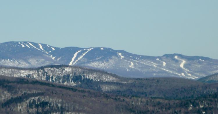 Gore Mountain from the top of Hickory Ski Center
