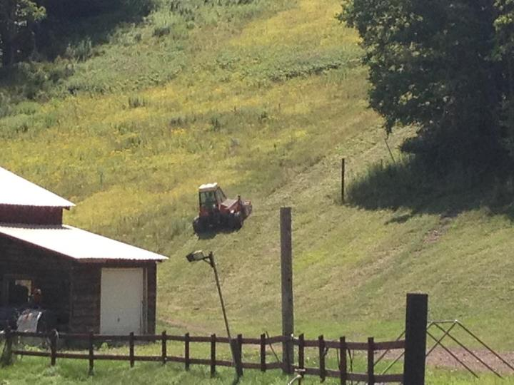 Mowing the mountain