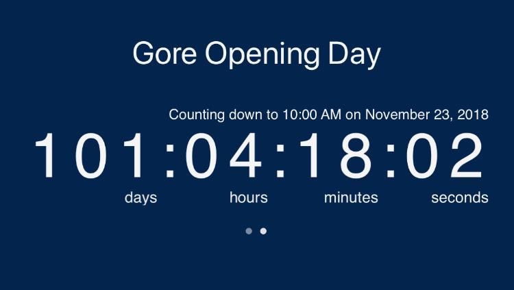 Gore Opening Day